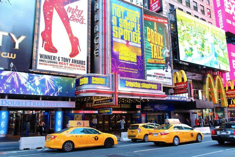 Broadway do centro Manhattan New York City imagem de stock