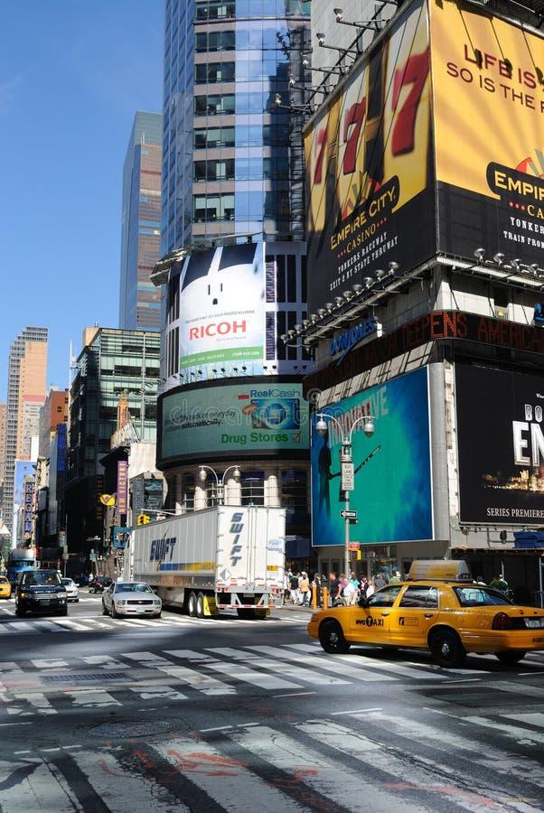 Broadway E 42nd Interseção Da Rua Imagem de Stock Editorial