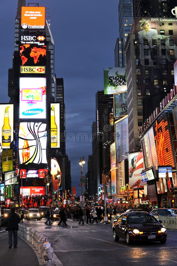 Broadway e Times Square imagem de stock royalty free