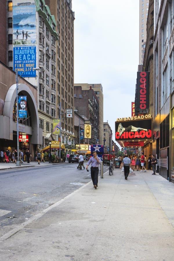 Broadway e W4 9 rua, New York City, EUA foto de stock