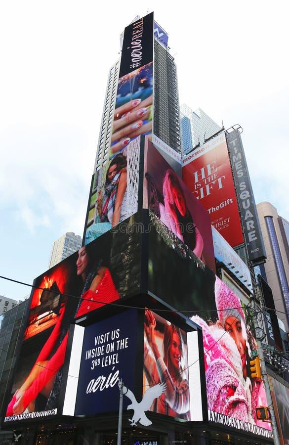Broadway firma adentro Manhattan imagenes de archivo