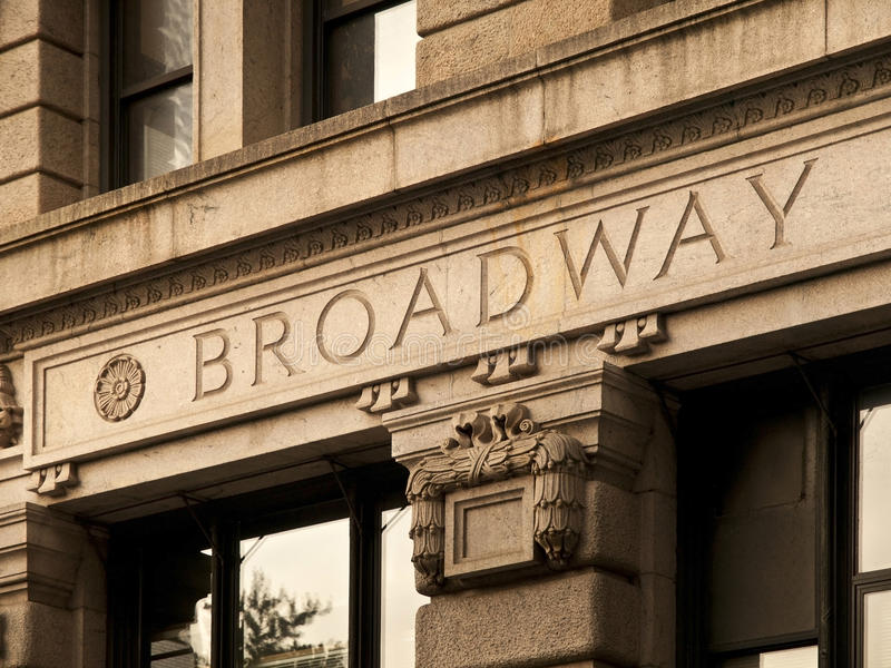 Broadway grava fotografia de stock royalty free