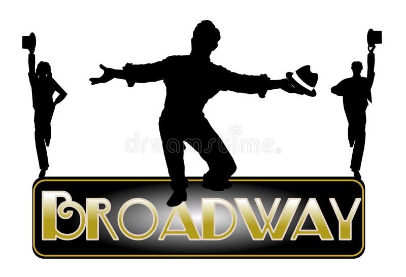 Broadway-Konzepthintergrund vektor abbildung