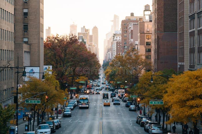 Broadway, in Morningside-Hoogten, de Stad van Manhattan, New York royalty-vrije stock fotografie