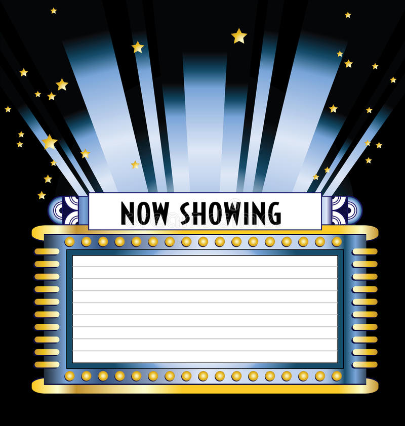 Broadway Movie Marquee vector illustration