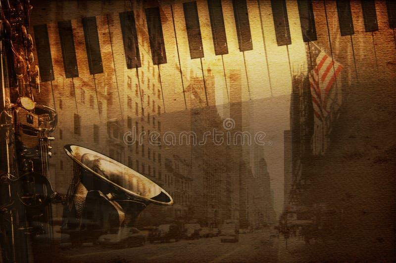 broadway musik royaltyfri illustrationer