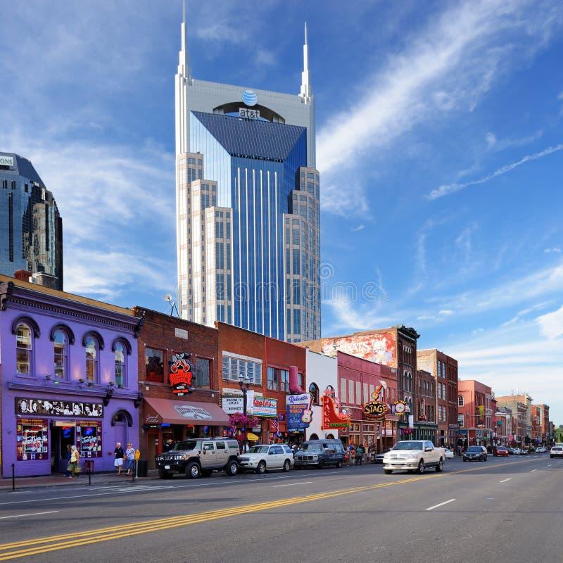 Broadway Nashville foto de archivo