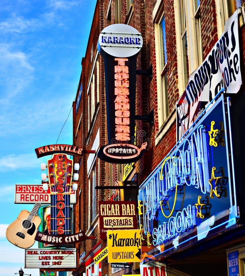 Broadway Nashville foto de stock