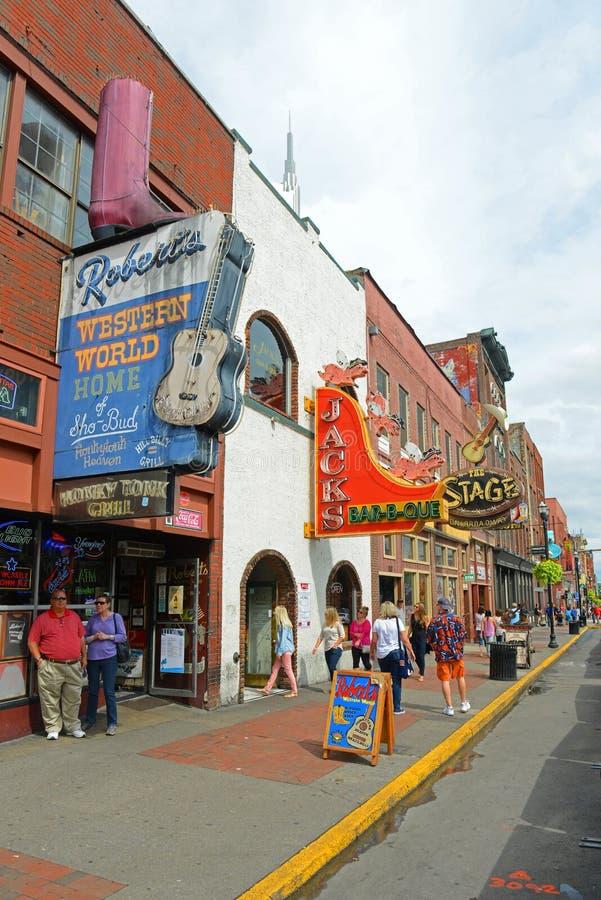 Broadway, Nashville, Tennessee, EUA imagens de stock royalty free