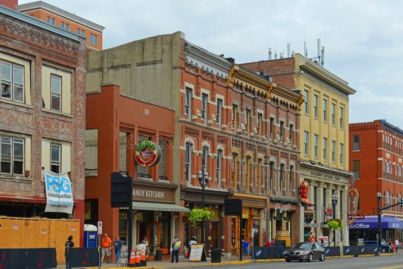 Broadway, Nashville, Tennessee, EUA fotos de stock