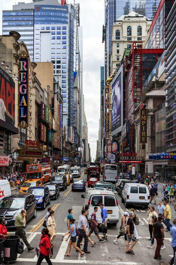 Broadway, New York, EUA imagens de stock
