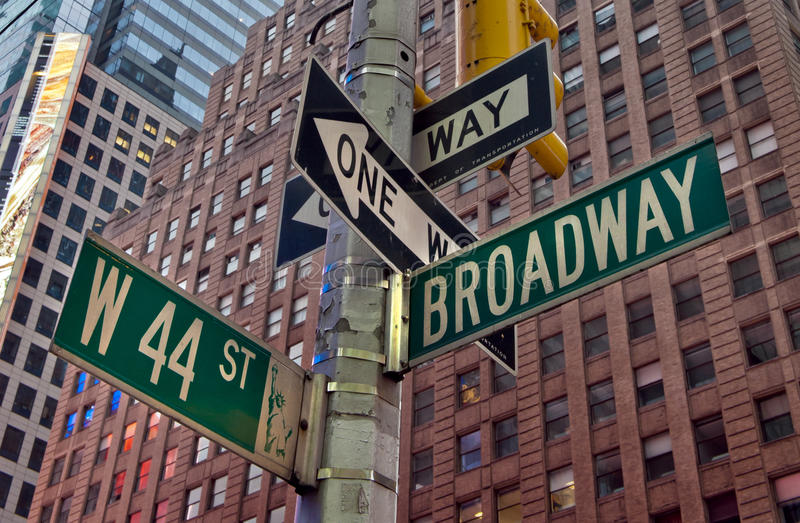 Broadway New York. Street sign
