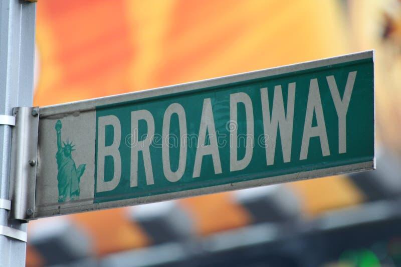 broadway ny teckengata york arkivfoto