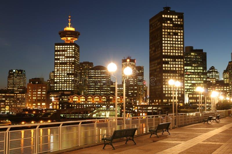 Broadway ontmoet Vancouver royalty-vrije stock foto's