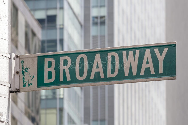 Broadway Roadsign foto de stock royalty free