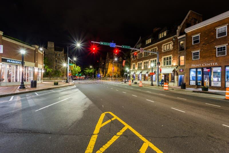 Broadway-Schnitt in New-Haven, Connecticut stockfotografie