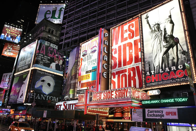 Broadway Show Advertisements Editorial Image