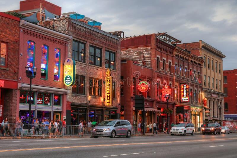 Broadway-Straße Nashville Tennessee stockfotografie