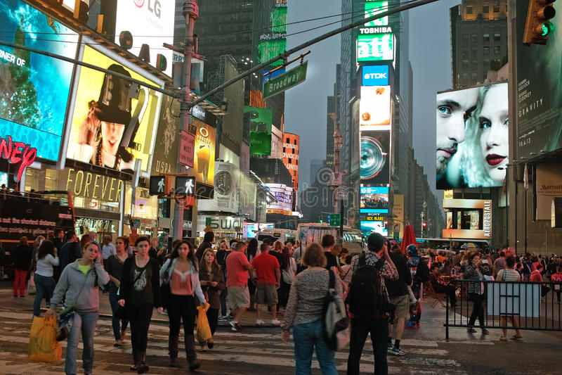 Broadway at Times Square, New York City, USA