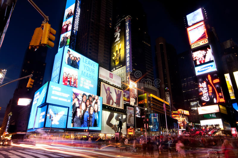 Download Broadway At Times Square By Night Editorial Stock Photo - Image: 11951838