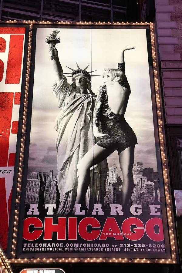 Broadway toont reclame stock afbeeldingen