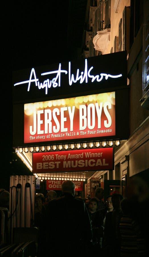 Broadway toont Teken royalty-vrije stock fotografie