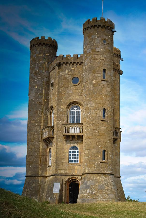 Broadway Tower in Worcestershire. This is a Non-Historic tower. It was built in 18th Century. The location for the Tower was wisely chosen, in Worcestershire royalty free stock image
