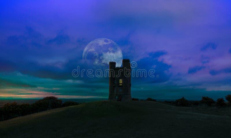 Broadway wierza, Worcestershire Anglia Ok obraz royalty free