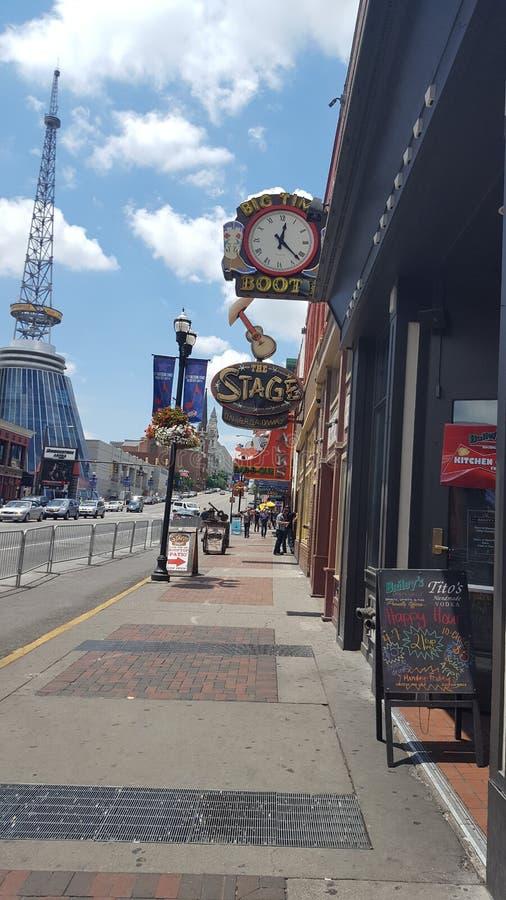 Broadwaystraat, Nashville TN royalty-vrije stock foto's