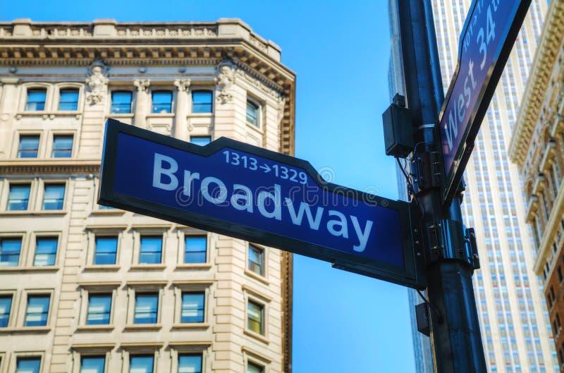 Broadwayteken royalty-vrije stock foto