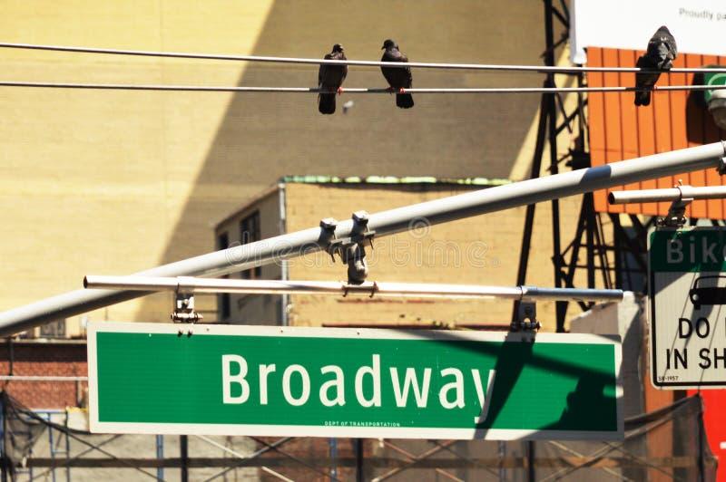 Broadwayteken 2 stock fotografie
