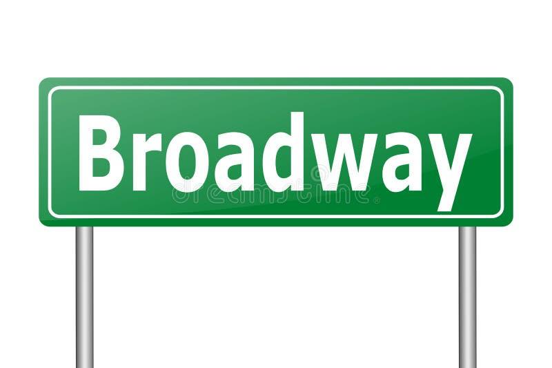 Download Broadwayverkeersteken stock illustratie. Illustratie bestaande uit reis - 54076507