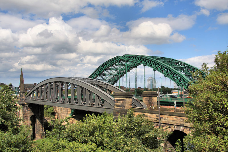 broar över wear två royaltyfri fotografi