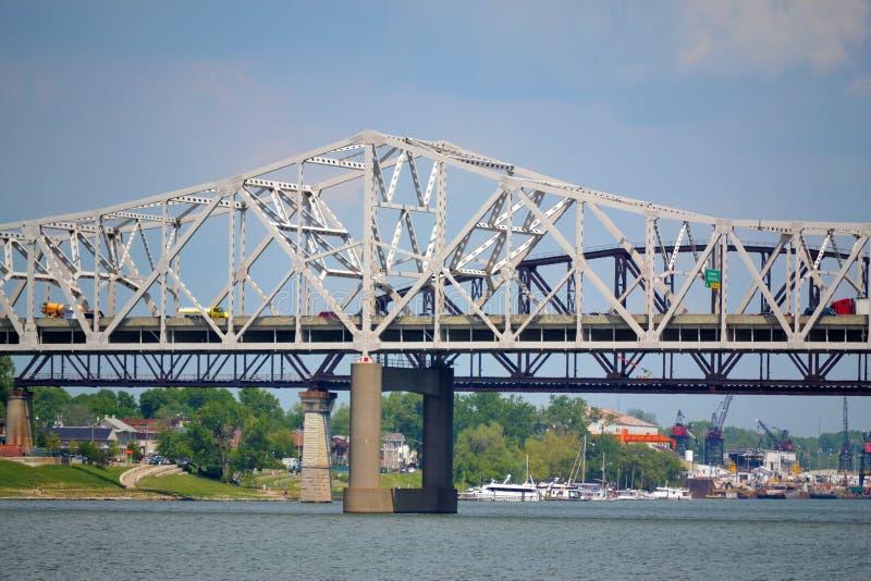 Broar i Louisville, Kentucky arkivfoton