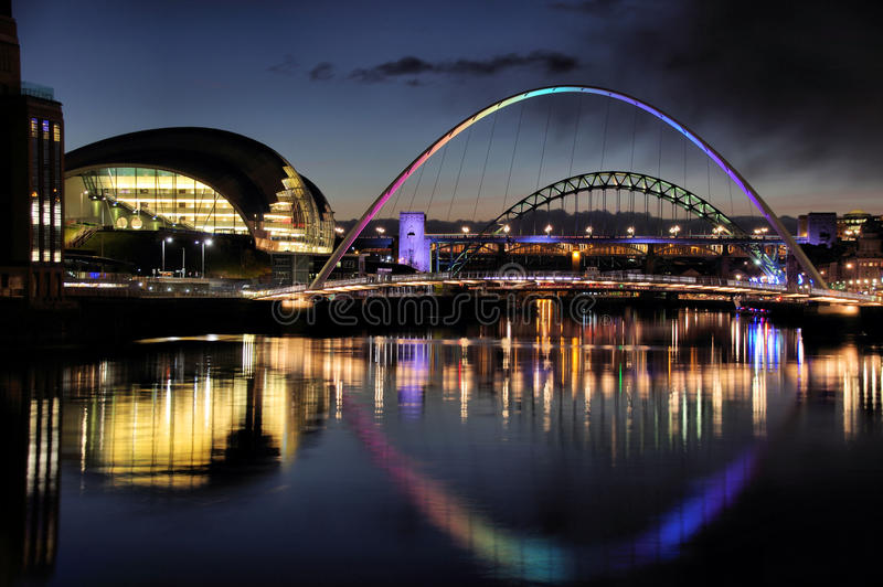 Broar på River Tyne royaltyfri fotografi