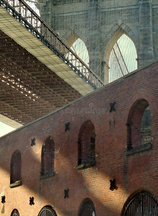 brobrooklyn dumbo New York arkivbild