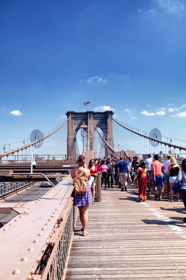 brobrooklyn stad New York royaltyfria bilder