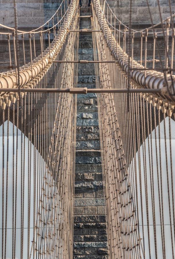 brobrooklyn stad New York arkivbilder