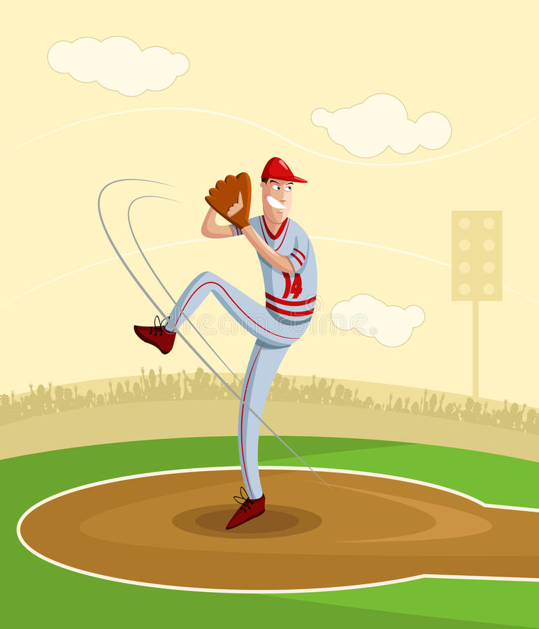 Broc de base-ball illustration libre de droits