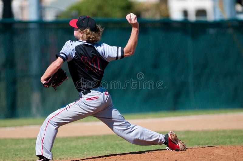 Broc de base-ball de lycée image stock
