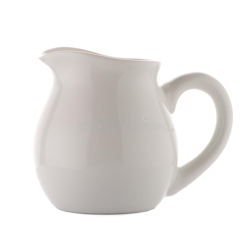 Broc en céramique blanc image stock