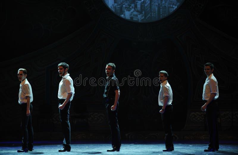 Broca---A dança de torneira nacional irlandesa da dança fotos de stock