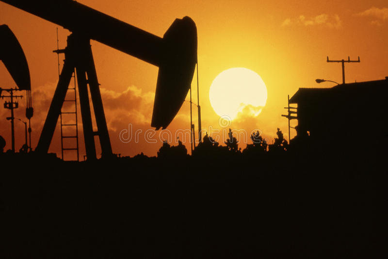 Broca do petróleo fotografia de stock