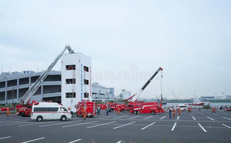 Broca do salvamento pelo departamento dos bombeiros do Tóquio fotografia de stock royalty free