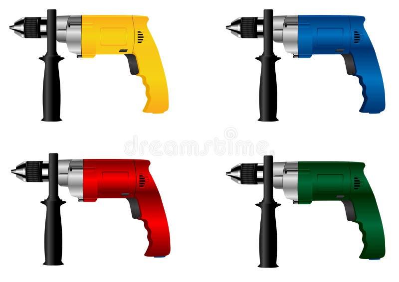Broca elétrica da ferramenta ilustração stock