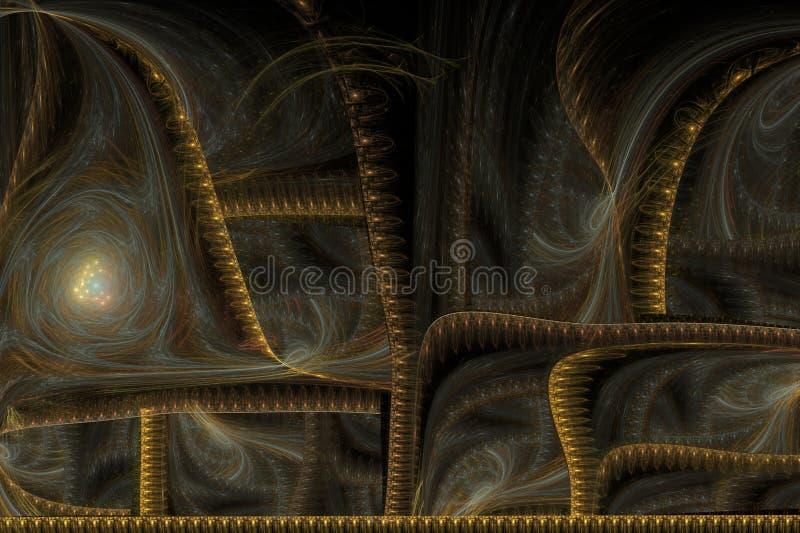 Brocado de oro de la imagen abstracta ilustración del vector