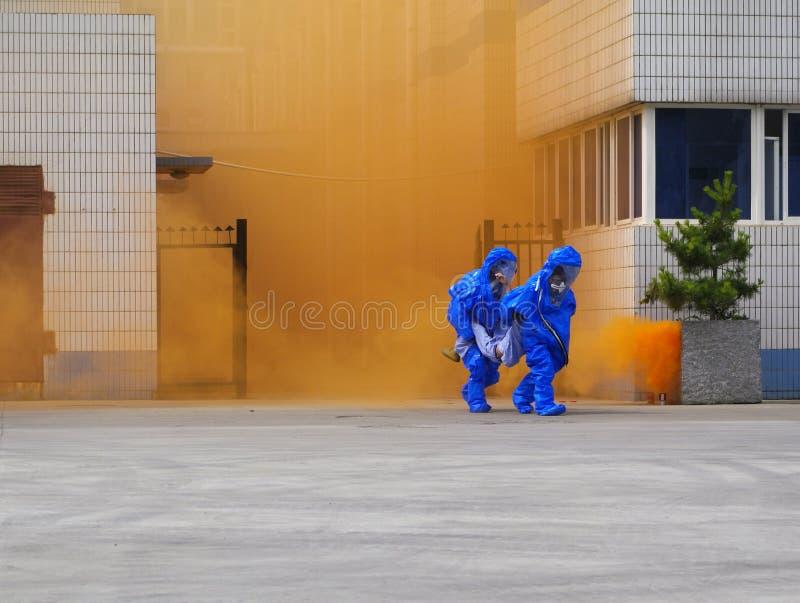 Brocas de emergência perigosas do escapamento dos produtos químicos foto de stock royalty free