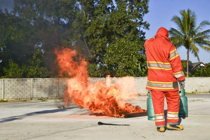 Brocas de fogo da prática fotografia de stock