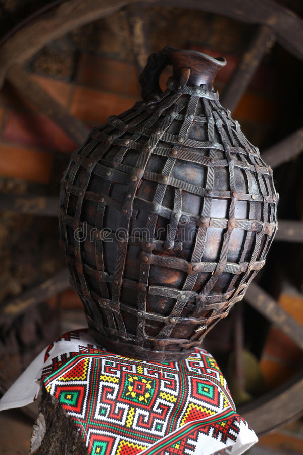 Brocca casalinga tradizionale fotografie stock