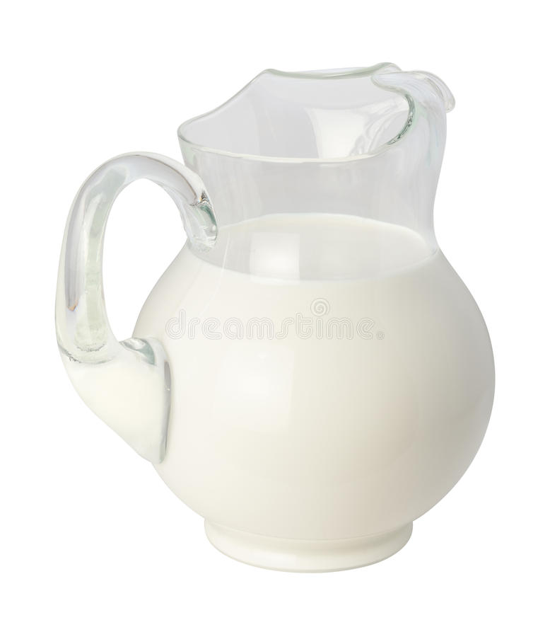 Brocca del latte fotografie stock